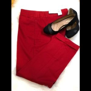 LOFT MODERN BI-STRETCH SKINNY SIZE 12 COLOR RED